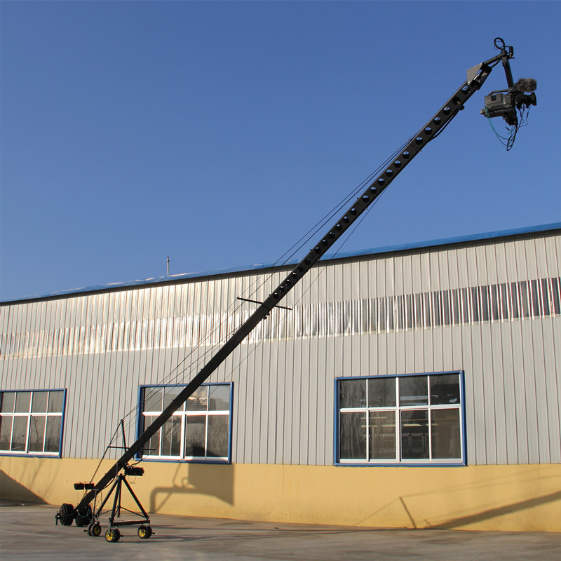 2 Axis Remote Control Professional PTZ Head Video Camera jimmy jib Crane for sale 10 m professional dv camera crane jib 3m 6m 19 ft square for video camera filming with 2 axis motorized head