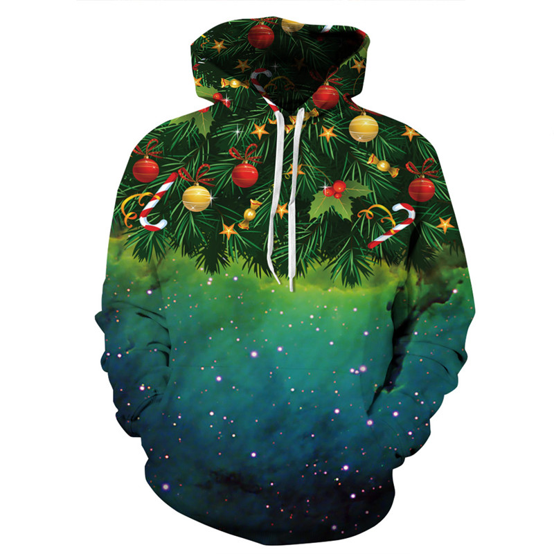 Dropshipping 2018 Newest 3D Print Christmas Halloween Skull Theme Pullover Hoodies for Women/men Loose Plus Size Sweatshirts