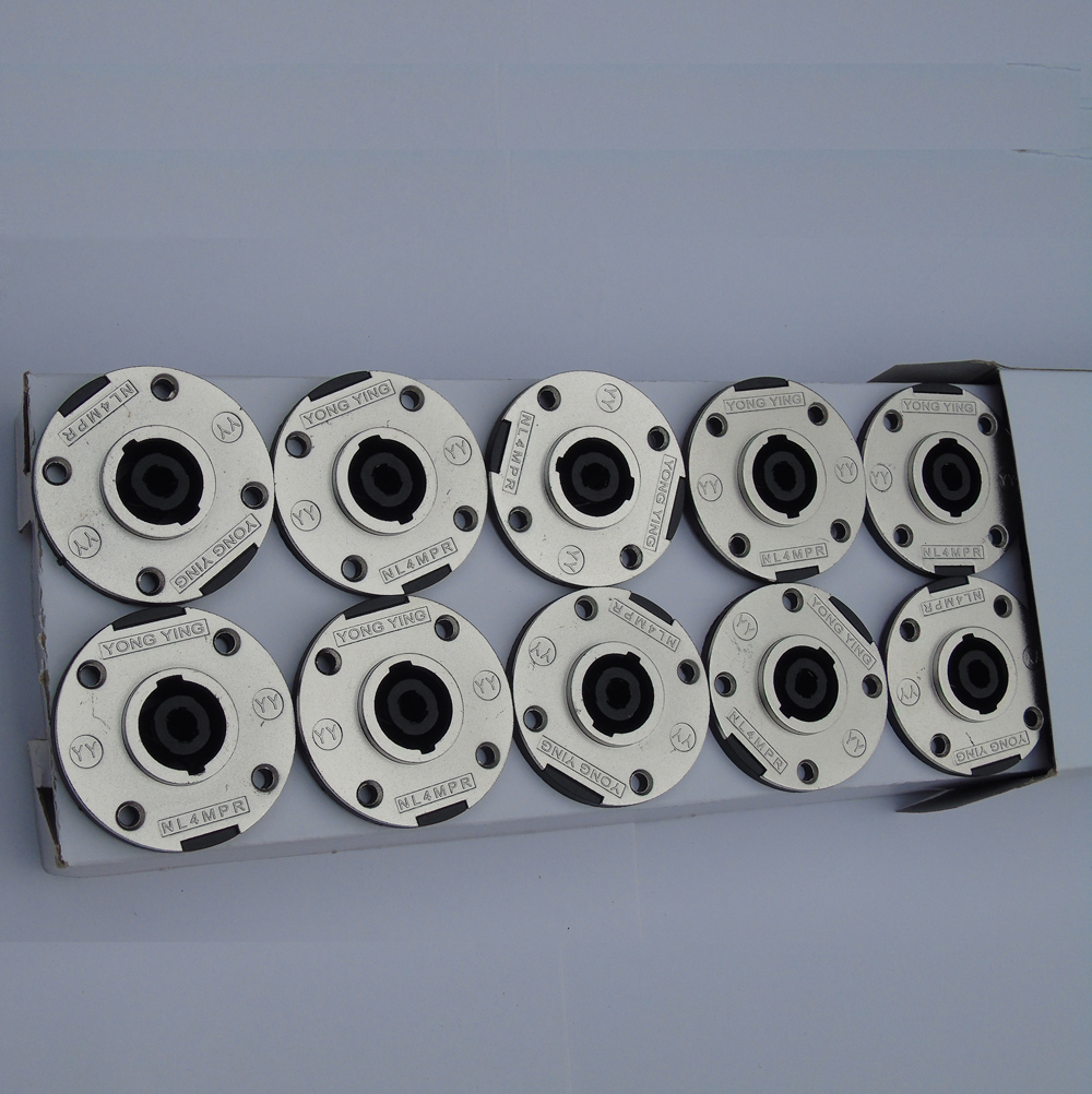 Wholesale 50 PCS/lot Garden 50MM 4-Pole Speaker Pro Audio Equipment DJ Speaker Chassis Socket