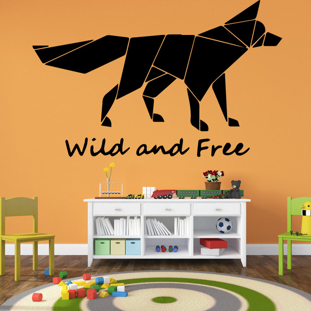Fierce Wolf Wall Stickers Home Decoration Self Adhesive Man Rooms Living Room Wallpaper Decor