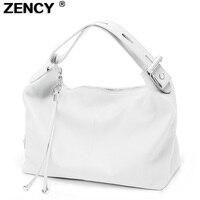 ZENCY/100% мягкая женская сумка из натуральной кожи в стиле OL, выдвижная сумка с ручкой сверху из воловьей кожи, Женская Повседневная сумка на пл...