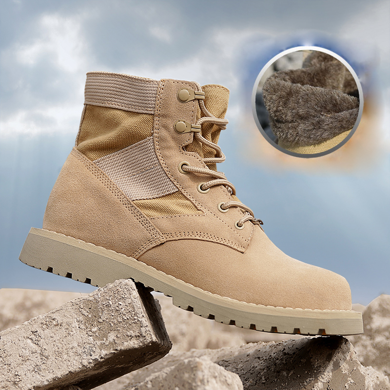 Outdoor Men Sports Hiking Shoes Army Combat Training Boots Military Tactical Climbing Shoes Winter Men's Warm Snow Boots Women outdoor tactical boots army combat military boots snow training boots men s hunting sports hiking boots desert camouflage shoes