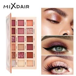 MIXDAIR палитра для макияжа 18 Цветовая палитра теней для век Блеск для макияжа Матовый Тени для век Долговечный макиллаж Paleta de Sombra
