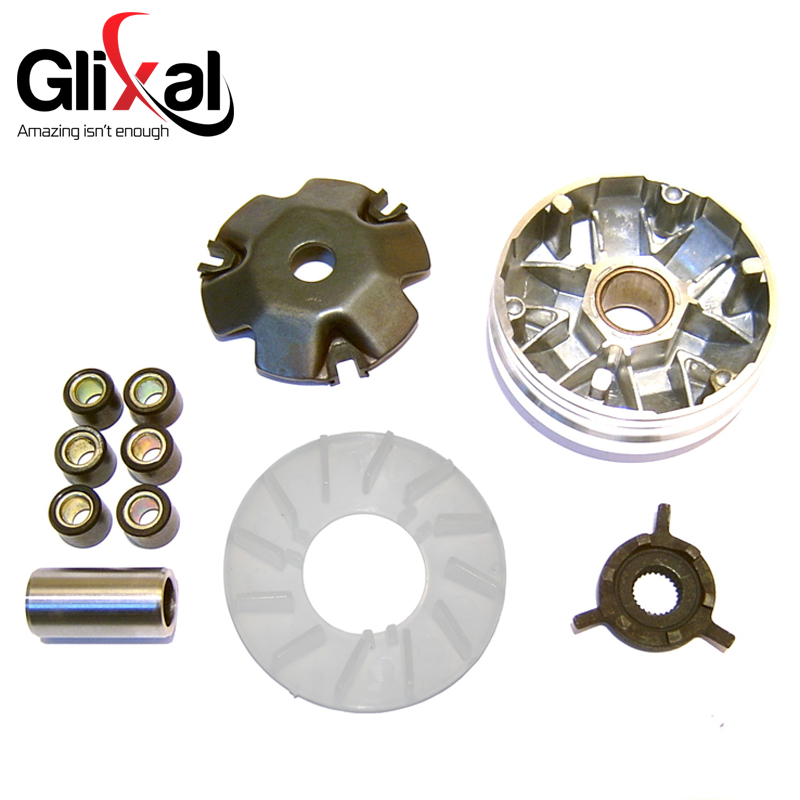 US $3 89 22% OFF|Glixal GY6 49cc 50cc Chinese Scooter Moped Variator Kit  Front Clutch Drive Pulley with Roller weights 139QMB 139QMA TAOTAO SUNL on