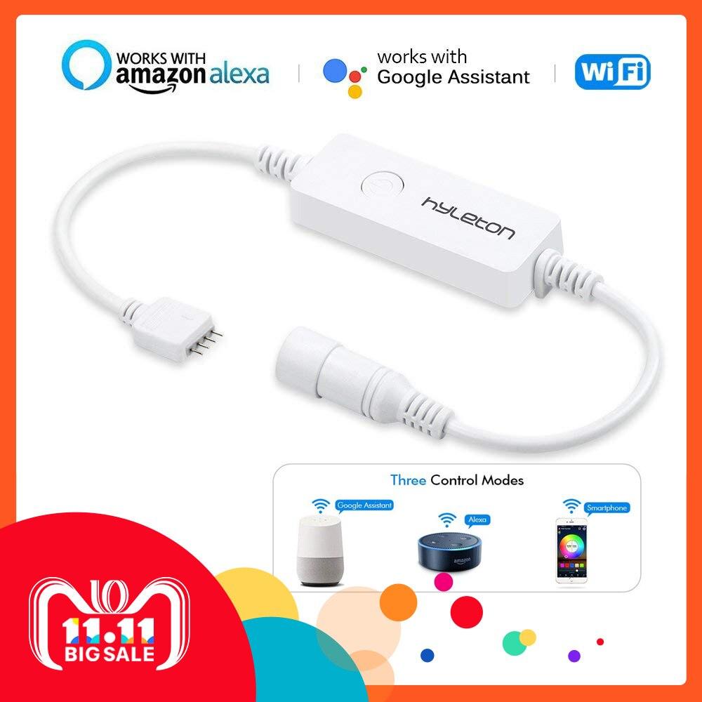 LED Wifi controlador inalámbrico controlador inteligente para luz de tira de RGB Compatible con Alexa y Google Control de voz IOS/ android