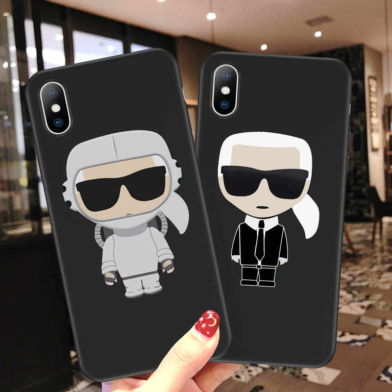 Ottwn Cartoon Letter Pattern Cases Cover For iPhone X XR Xs Max Soft TPU Ultra Thin Phone Case For iPhone 6 6S 7 8 Plus 5 5s SE