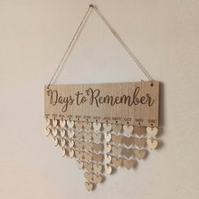 2018 new arrival Calendar wood decoration Reminder Board Home Hanging Decor Wooden Calendar Board Hanging Decor dropshipping home decor wooden anniversary calendar board diy family friends birthday calendar sign special dates planner board hanging