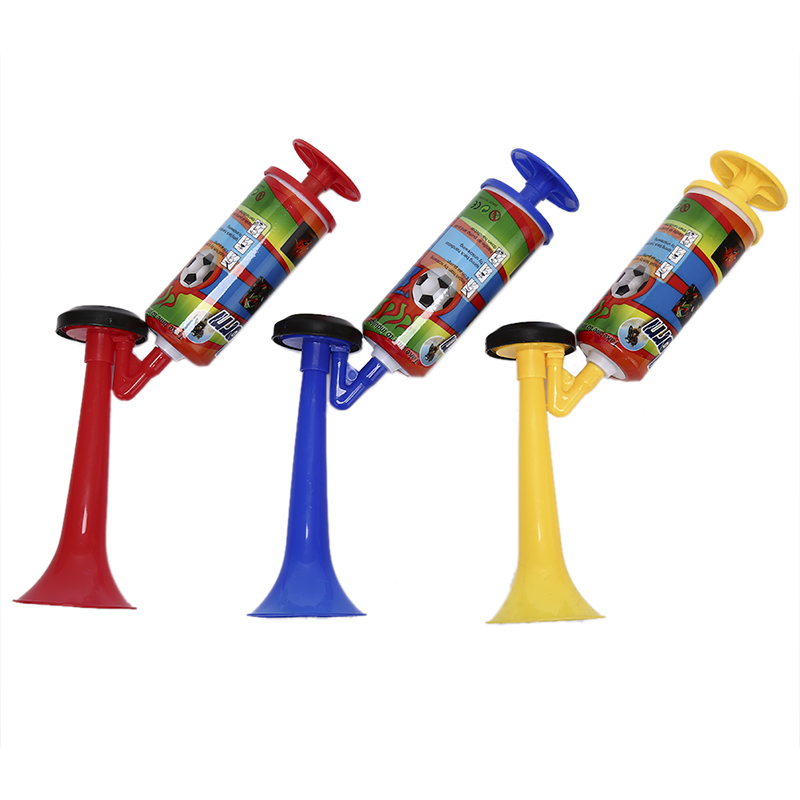 1Pc Cheerleading Soccer Ball Fans Horn Sports Meeting Club Props Adjustable Trumpet Child Toy Hand Push Gas Pump Air Horn