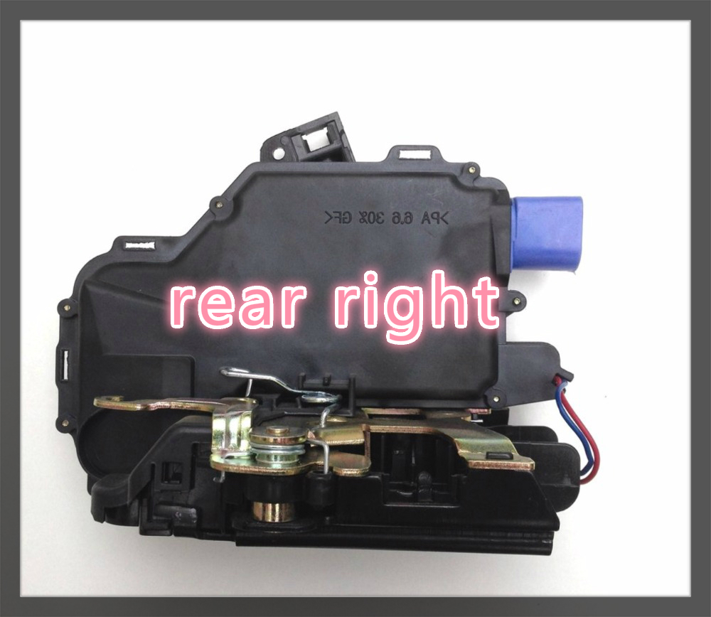 free ship 3B4839016AG REAR RIGHT SIDE DOOR LOCK ACTUATOR CENTRAL MECHANISM FOR VW POLO 9N VW T5 TRANSPORTER CARAVELLE MULTIVAN цена