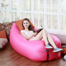 Portable Outdoor Fast Inflatable Lazy Sleeping Sofa Bed Festival Camping Hiking Travel Hangout Beach Bag Bed U0853