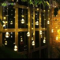 ZPAA 3M 138LED Ball Globe String Lights Curtain String Fairy Light Backyard Patio Lights Decorative Outdoor Garland Wedding