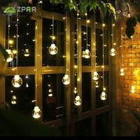 ZPAA 23M 138LED Ball Globe String Lights Curtain String Fairy Light Backyard Patio Lights Decorative Outdoor