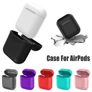 Image 3 - Funda de auriculares para Apple Airpods, funda protectora para Airpods, funda de silicona transparente para Airpods 2, funda dura para Airpods 2