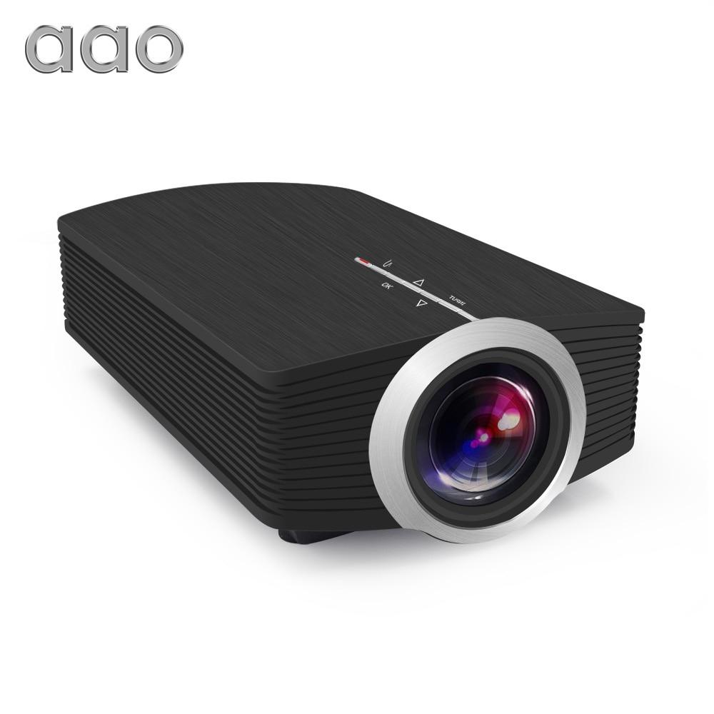 AAO YG500 actualización YG510 Mini proyector 1080 p 1800 lúmenes LCD portátil LED proyector de cine en casa USB HDMI 3D Beamer altavoz de graves