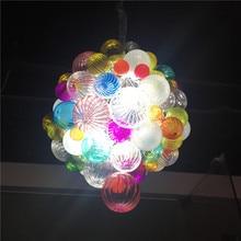 2019 New Colorful Hand Blown Glass Balls Chandelier Pendant Light for Art Decoration