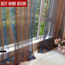 BHD drapes tulle sheer window curtains for living room the bedroom kitchen modern hooks tulle curtains for window fabric blinds 1 pair of sheer window tulle fabric curtains