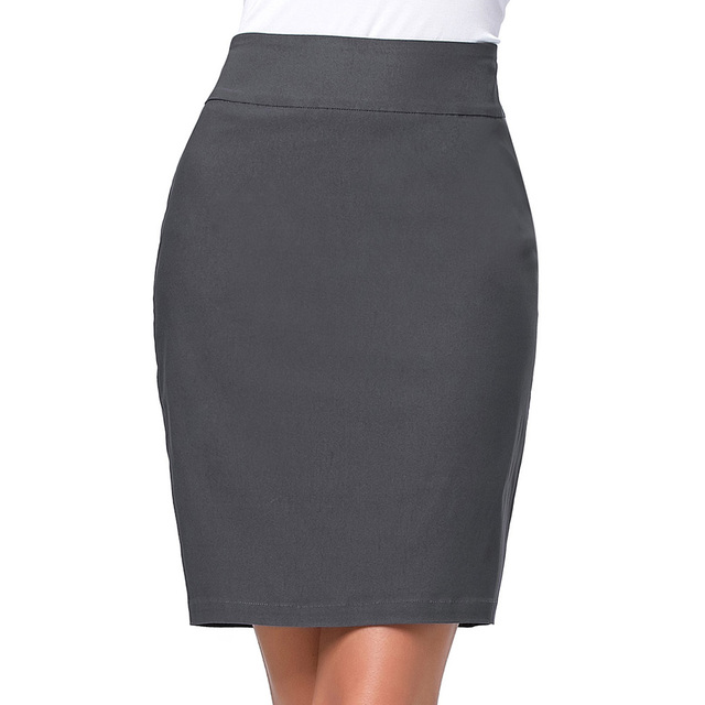 fe0eaae925c Big Size Pencil Skirts 2017 Summer Women Work To Wear Formal Saias  Femininas Ladies Business Gray Black Mini Short Office Skirt