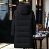 Na co dzień i biznes długi płaszcz puchowy mężczyźni grube termiczne 90% białe kaczki dół kurtki męska kurtka zimowa dla mężczyzn-40 stopni rozmiar 5XL