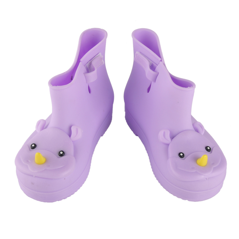 Quality Comfortable Soft Children Kids Boots Mini Melissa Rhino Girls Boy Rainboots Duck Jelly Shoes Short Water Shoes