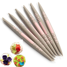 6 pcs/set Silicone Fondant Cake Decorating Flower Modelling Pen Sugarcraft Tools Sculpture Clay Mold