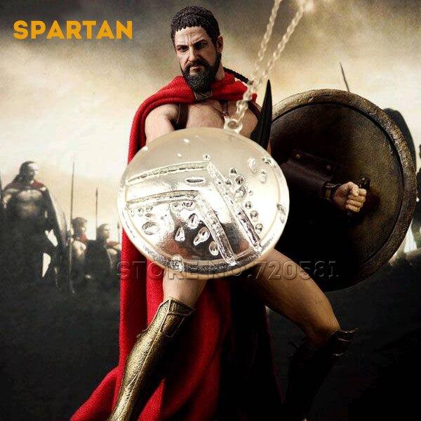 Hy lạp Anh Hùng Sparta 300 vua Leonidas mặt dây chuyền vòng cổ men nam thời  trang xu hướng lá chắn vũ khí dây chuyền bạc dài cổ áo retro quà tặng ...