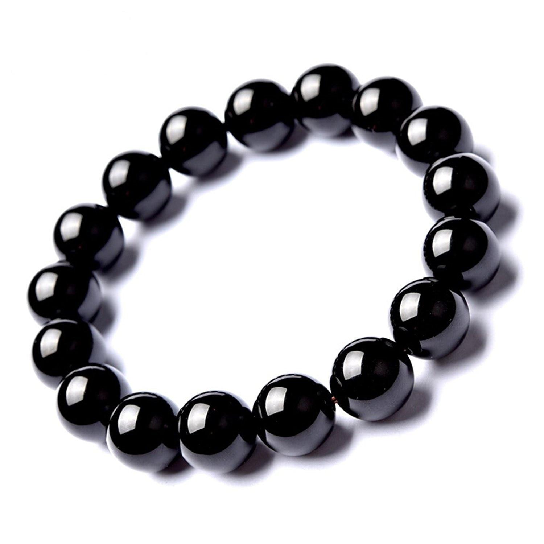Koraba Fine Jewelry 100% Pure Natural Obsidian 10mm Female Beauty Women Beads Bracelet Free Shipping