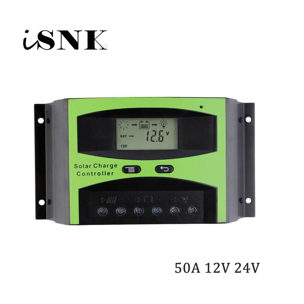 50A 12 v 24 v LCD Système Solaire Régulateur cellulaire Panneau Chargeur générateur Batterie Contrôleur 1KW 2KW 3KW 500 w 600 w 800 w 1000 w 1500 w