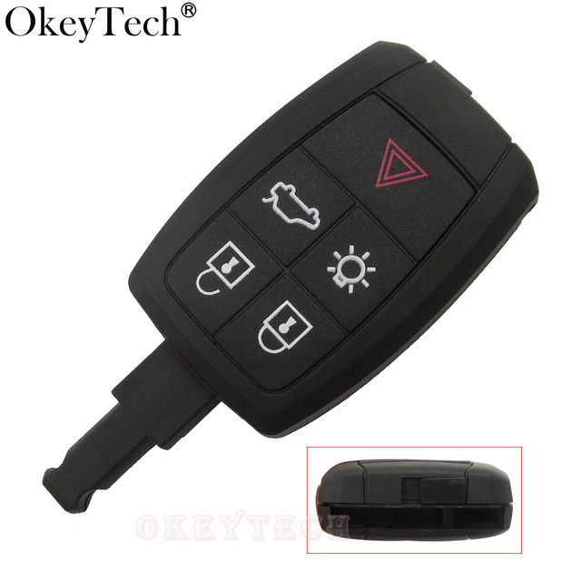 okeytech 5 buttons romete car key shell case for volvo xc90 c70 s60okeytech 5 buttons romete car key shell case for volvo xc90 c70 s60 d5 v50 s40