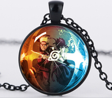 New Design Classic Anime NARUTO glass dome necklace 3 colors chain Jewelry Anime Theme Ninja Naruto N933