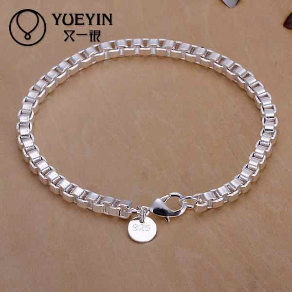 H172 Fashion Style silver plated Snake Chain Bracelet Fit  Bracelet & Bangle Chain Charm Beads 16CM-21CM