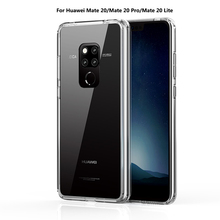 For Huawei Mate 20 Pro Case Hard Plastic Acrylic Cover Mate20 Clear Transparent Phone Cases Lite