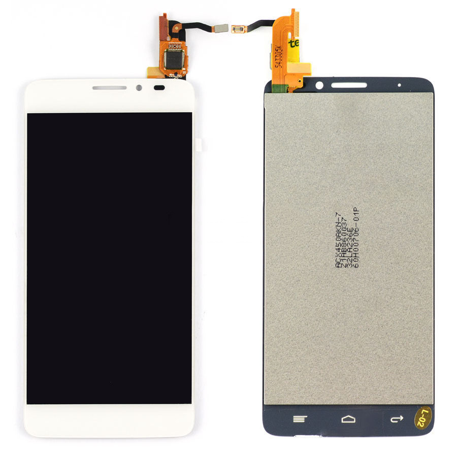White LCD Display + Touch Screen Digitizer Assembly For Alcatel One Touch Idol X 6040 6040A 6040D 6040X Free Shipping