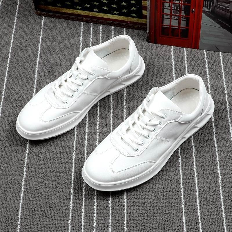 Plataforma Até Zapatos Dedo Homens Lazer Errfc Casuais Homem 38 Tendência Amarelo Branco Branco Couro Rendas Redondo amarelo Pu 43 Sapatos De Pé Moda Do 1U0q71Y