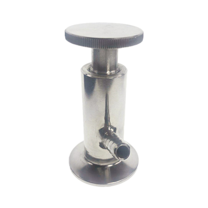 304 Stainless Steel Sanitary Sampling Valve 50.5mm 25.4mm Ferrule OD Fit 1/2