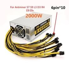 S9 antminer power supply 2000W bitmain antminer L3+ psu  mining rig psu for antminer S7 S9 L3 D3 R4 E9 E9+ machine server psu