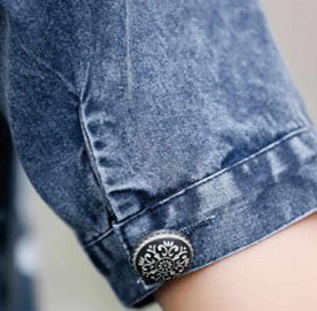 Летнее джинсовое платье с короткими рукавами и карманами для девочек; джинсовое платье; свободное платье больших размеров; женские летние джинсы; vaqueros vestido sukienka # G7