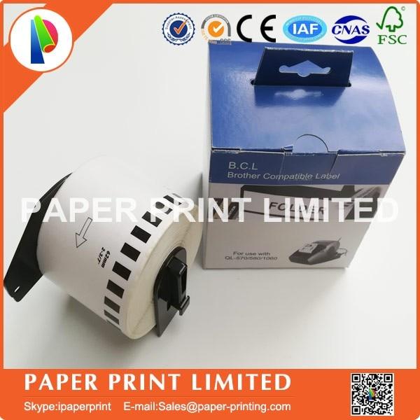 1 Rotolo Compatibile Dk-22205 Etichetta 62mm * 30.48 M Stampante Brother Continuo Compatibile Ql-570 Ql-700 Tutti Vengono Con La Plastica Supporto