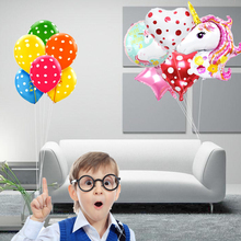 6pcs unicorn party air dots balloons birthday party decorations friends kids toys heart  balloon star Foil Helium globos led stern шлем велосипедный stern