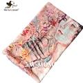 Художественный картина маслом стиль шарфы мода урожай европа классические женские шарфы осени зимы длинные Shawls платки