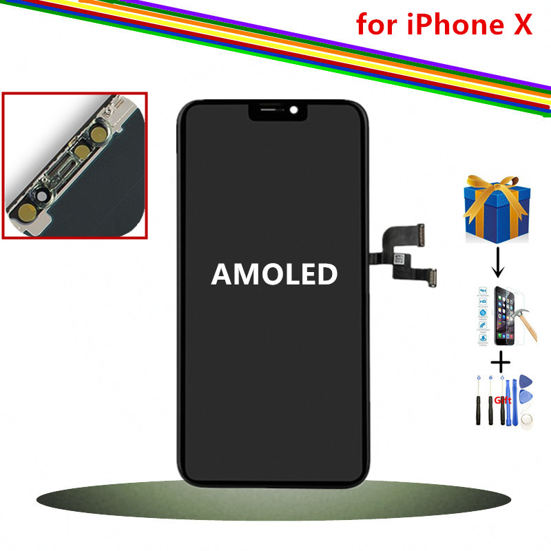 5 8inch AMOLED Display for iPhone X LCD Display and Digitizer Assembly Screen Black