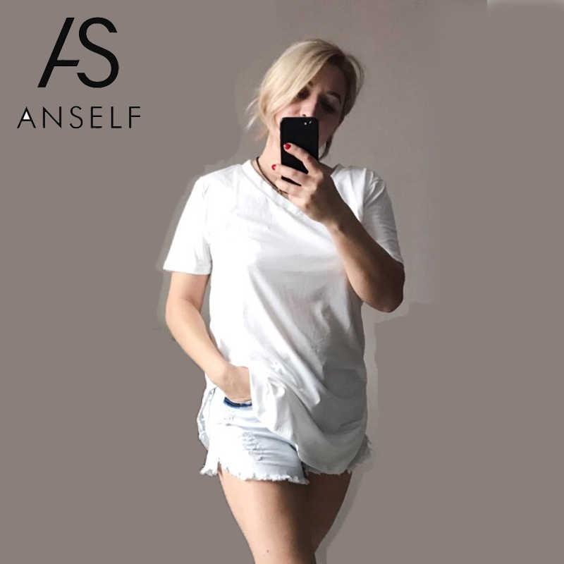 2019 Musim Panas Tshirt Wanita Ukuran Besar T Shirt V Neck Lengan Pendek Kasual Tee Atasan Wanita Tunik Plus Ukuran 5XL DROP Kapal