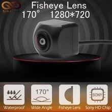 Sinairyu Rear Front Side View Camera SONY MCCD Fish Eyes Night Vision Waterproof IP68 Reversing Back Up Camera Universal