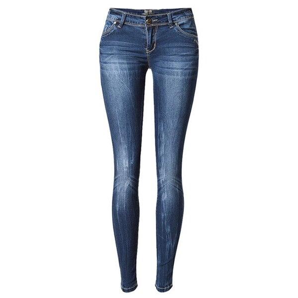 Women Skinny Jeans Pants Women Low Waist Elasticity Pencil Jeans