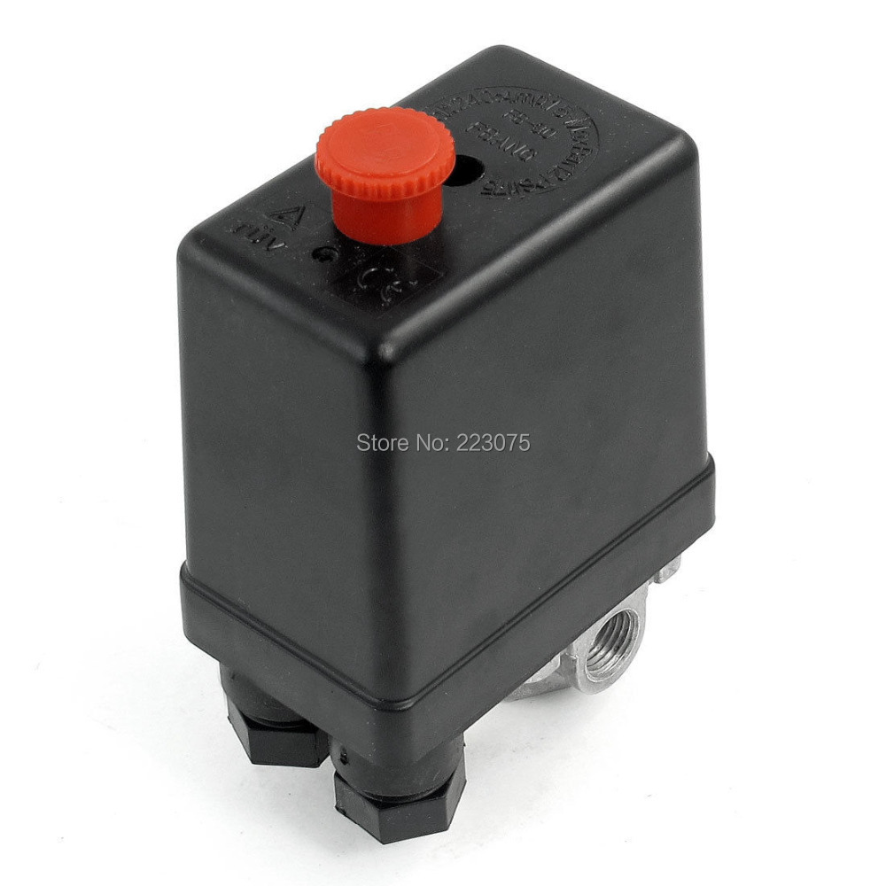 Automatic Air Compressor Pressure Switch Control Valve 175 PSI 240V 16A 4 Port 180psi air compressor pressure valve switch manifold relief gauges regulator set