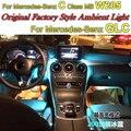 Para Mercedes Benz C MB W205 ou Atmosfera GLC 2014 2015 2016 Painel Interior OEM Original de Fábrica avançada de Luz Ambiente