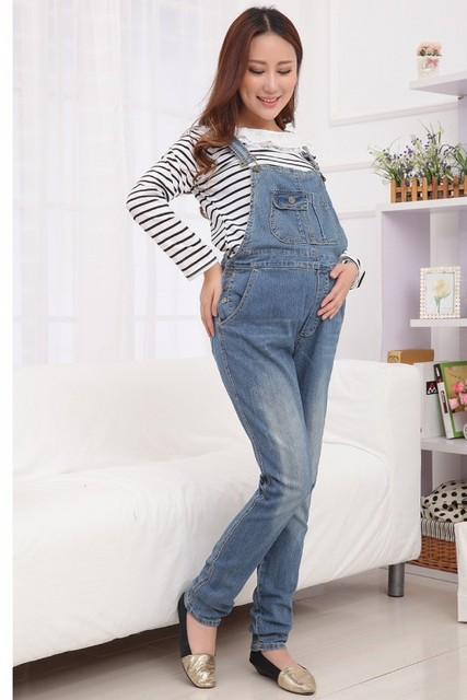 spring and autumn new maternity jeans Korean belly pregnant  pants  pregnant women overalls SH-871