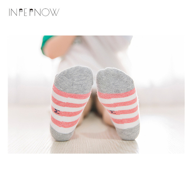 INPEPNOW 5 Pair/lot Baby Boy Striped Socks Soft Cotton Infant Socks Cute Cartoon Pattern Kids Socks Winter For Girl WZ-CZX53 6