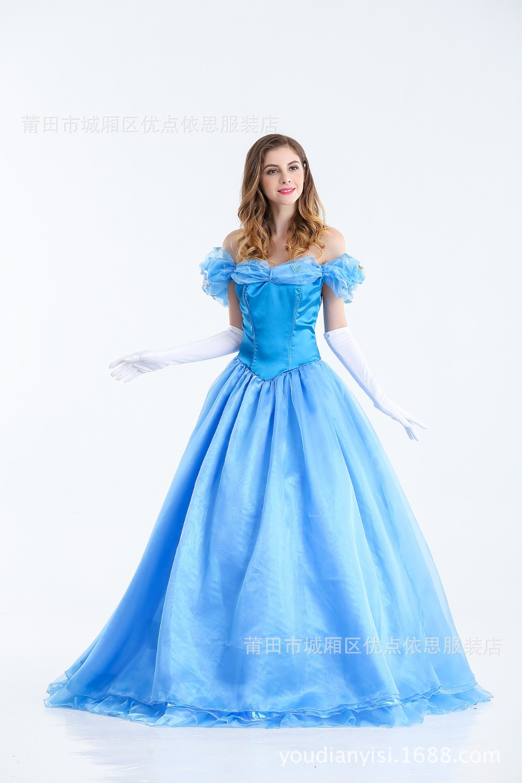 Halloween party women Cinderella costumes Ladies\' Fancy Dress Adult ...
