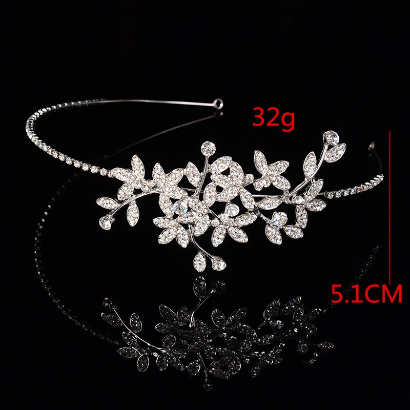 925 sterling silver luxury leaves design bridal tiara for women Austrian crystal wedding hair accessories 585 gold plated crown hair jewelry HF002 (5)