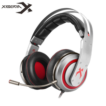 Best price XIBERIA T19 USB Gaming Headphones with Microphone 7.1 Surround Sound Stereo Glowing Headset Gamer Super Bass Vibration Function